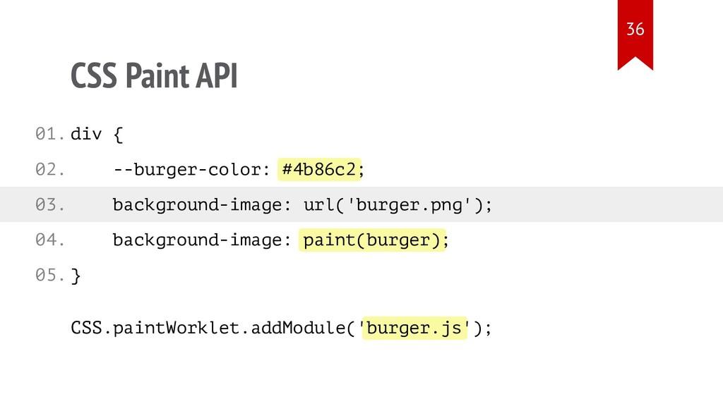 #4b86c2 paint(burger) burger.js CSS Paint API d...