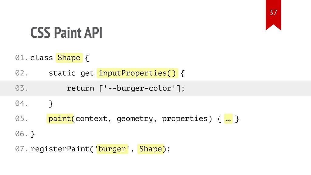 Shape inputProperties() paint … burger Shape CS...