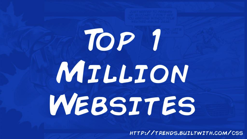 T op 1 Million Websites http://trends.builtwith...