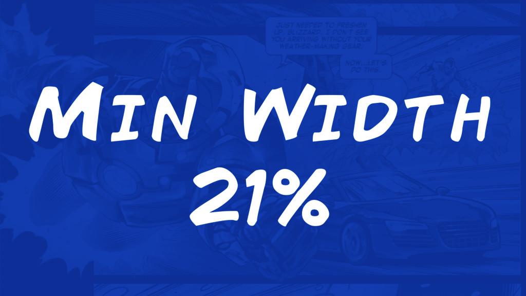 Min Width 21%