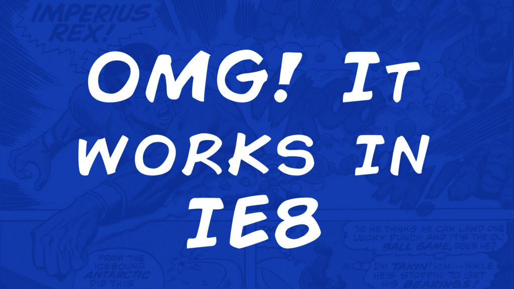 OMG! It works in IE8