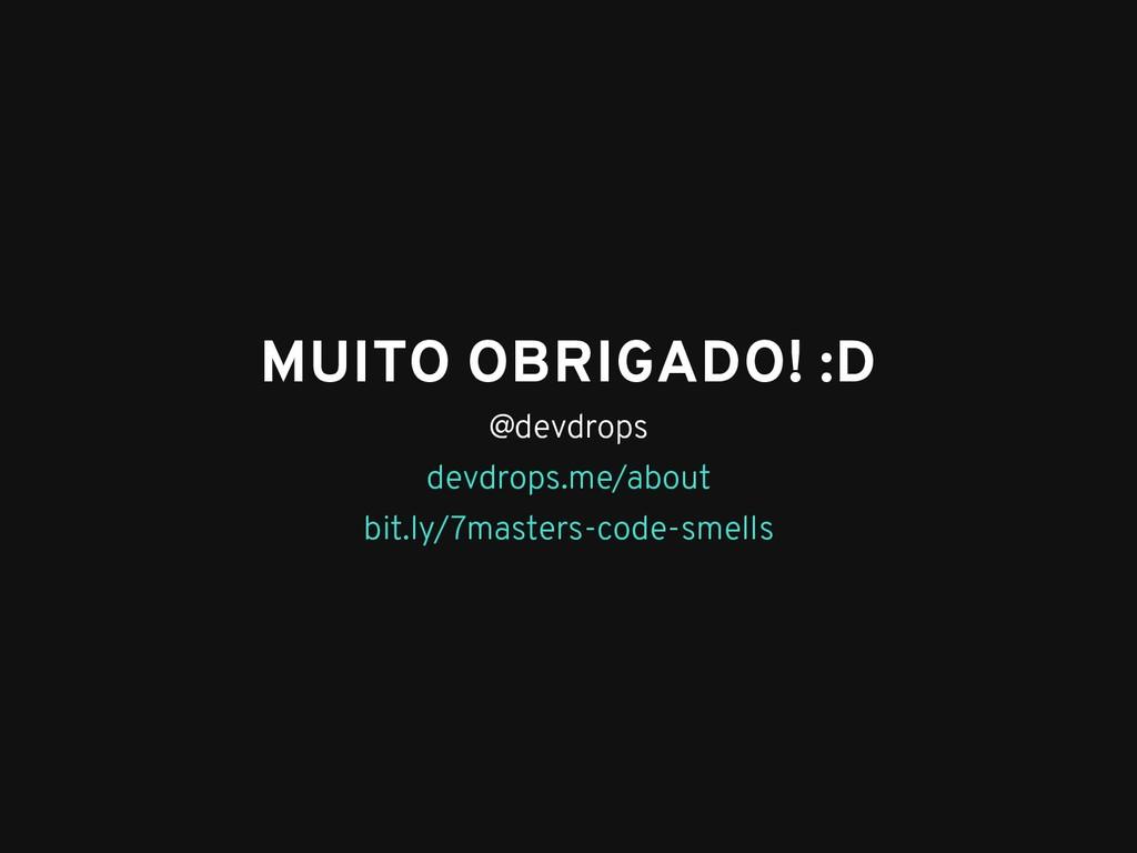 MUITO OBRIGADO! :D MUITO OBRIGADO! :D @devdrops...