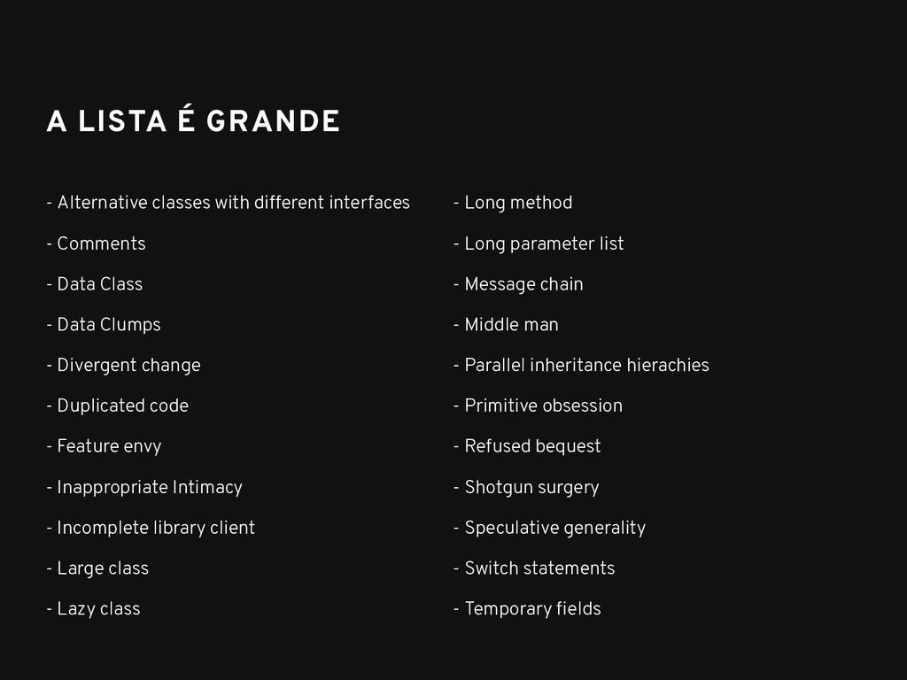 A LISTA É GRANDE A LISTA É GRANDE - Alternative...