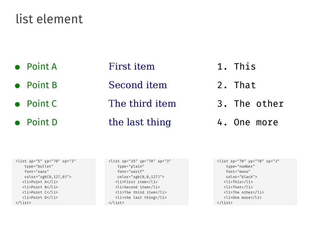 "list element <list xp=""5"" yp=""70"" sp=""3"" type=""..."