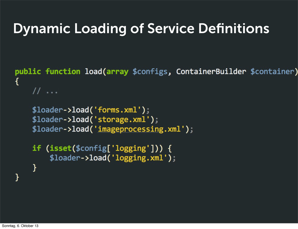 Dynamic Loading of Service Definitions Sonntag, ...