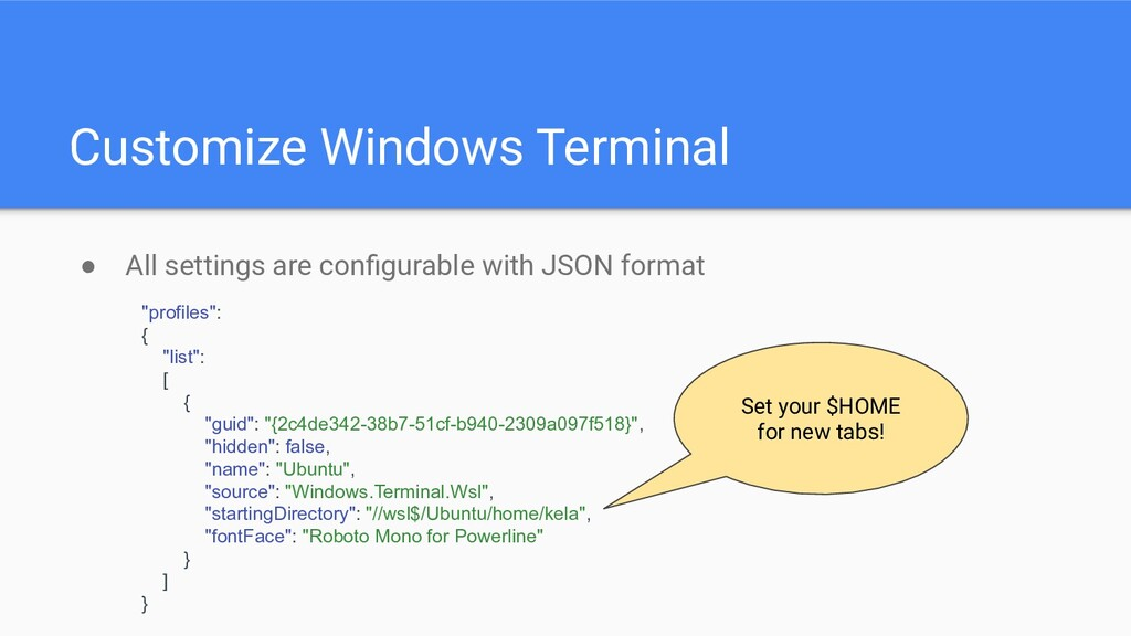 Customize Windows Terminal ● All settings are c...