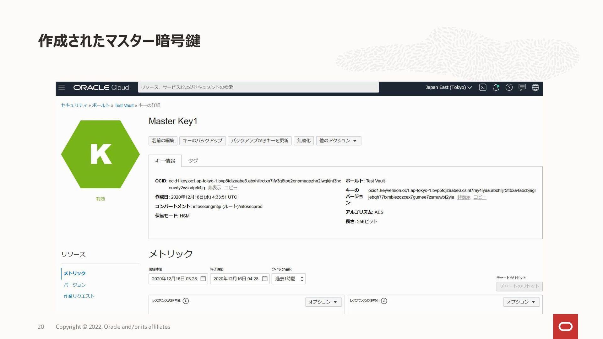 OCI CLI コマンド例 20 デジタル署名 oci kms crypto signed-d...
