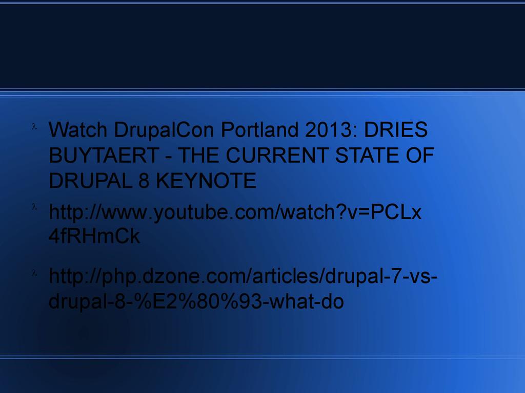 Watch DrupalCon Portland 2013: DRIES BUYTAERT -...