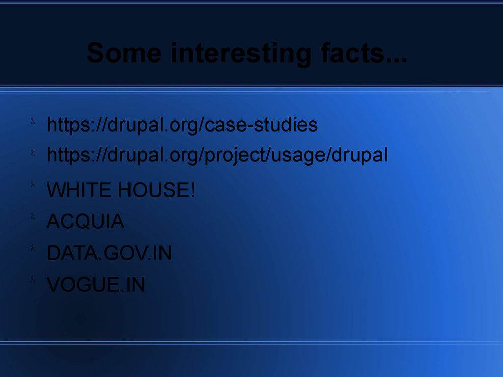 Some interesting facts... https://drupal.org/ca...