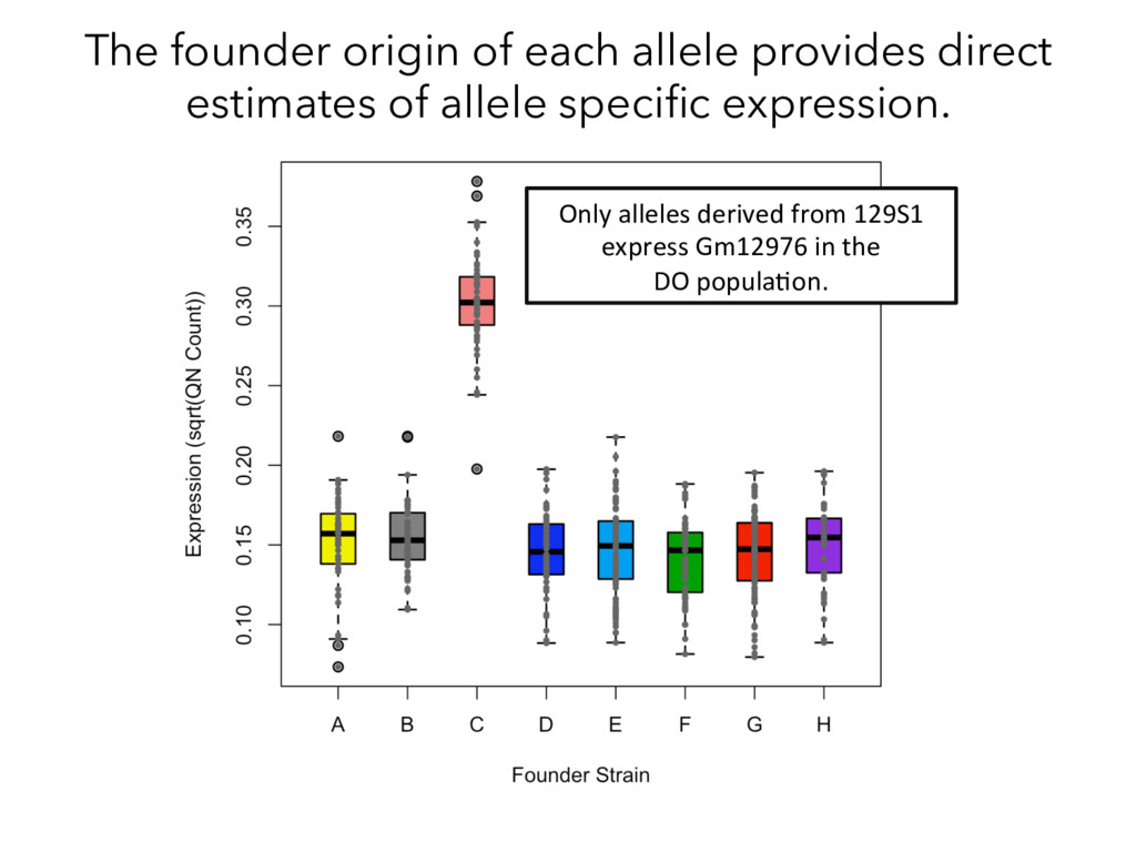 The founder origin of each allele provides dire...