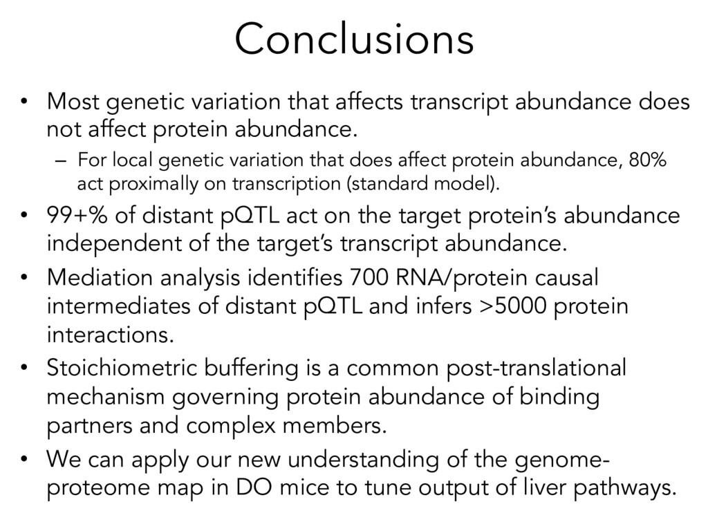 Conclusions • Most genetic variation that affe...