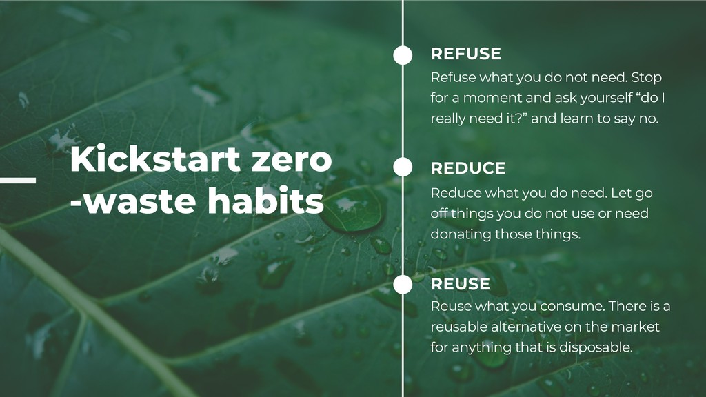 Kickstart zero -waste habits REFUSE Refuse what...