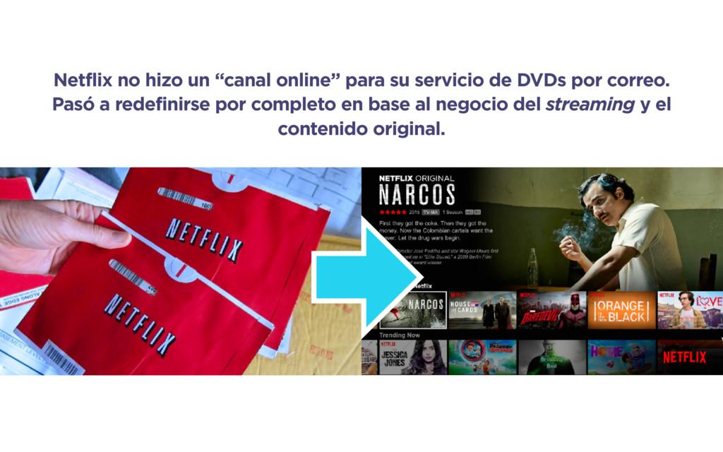 "Netflix no hizo un ""canal online"" para su servi..."