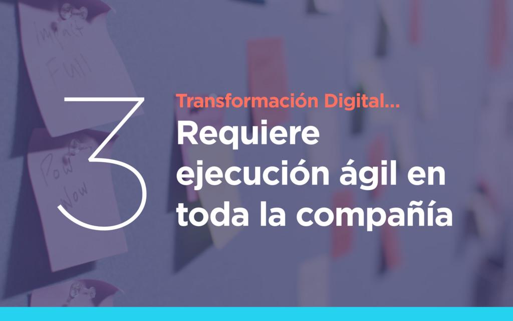 Transformación Digital… Requiere ejecución ágil...