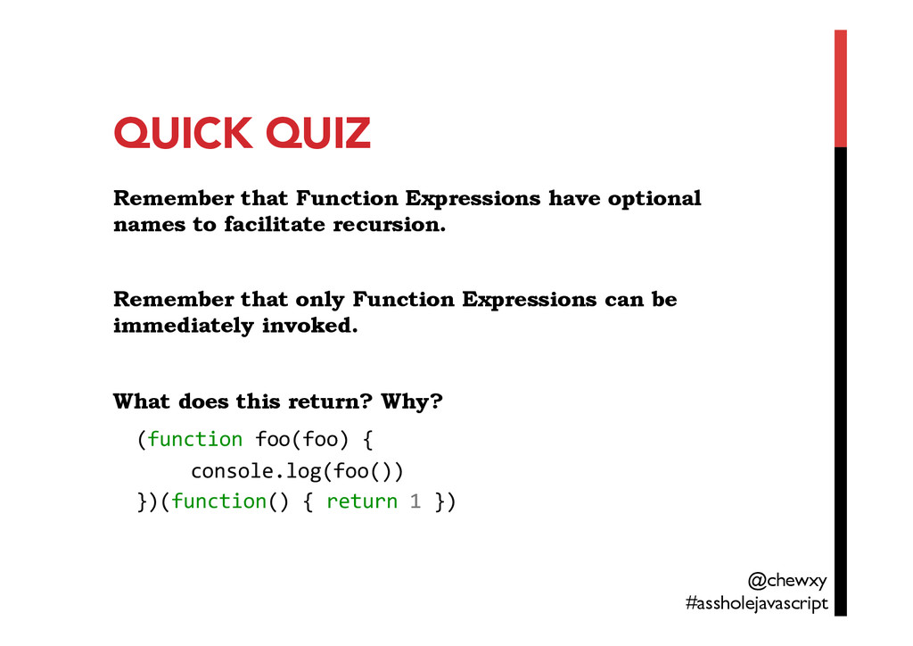 QUICK QUIZ