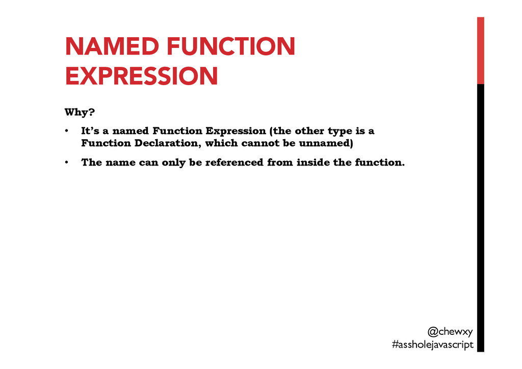 NAMED FUNCTION EXPRESSION