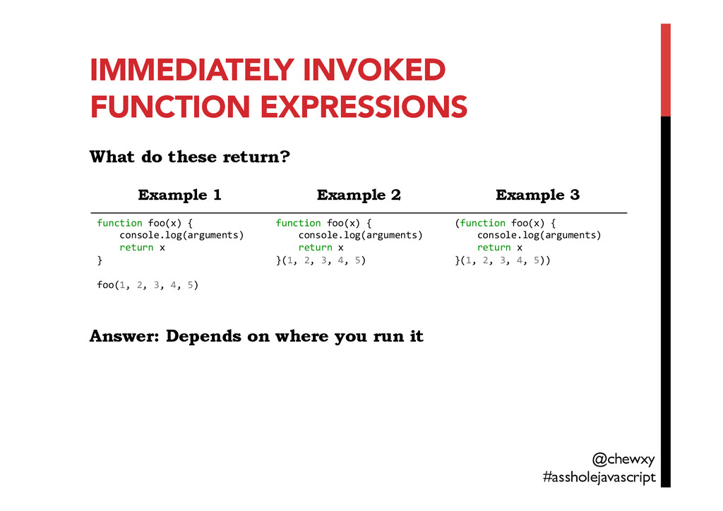 IMMEDIATELY INVOKED FUNCTION EXPRESSIONS
