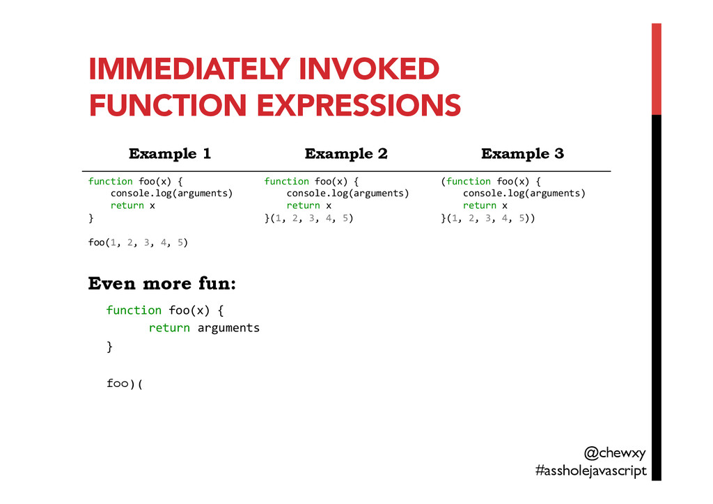 IMMEDIATELY INVOKED FUNCTION EXPRESSIONS Even m...