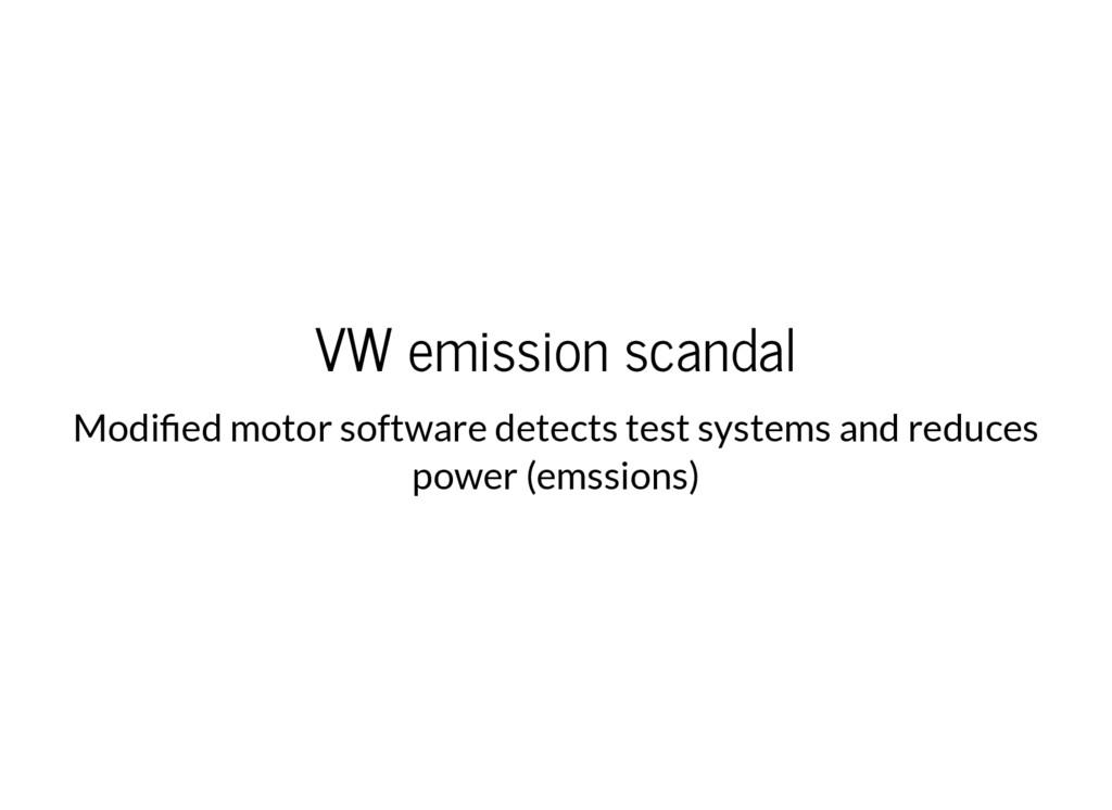 VW emission scandal Modi ed motor software dete...