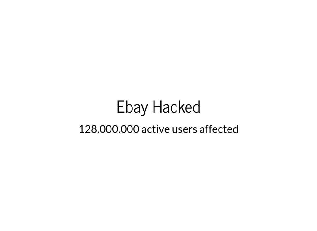 Ebay Hacked 128.000.000 active users affected