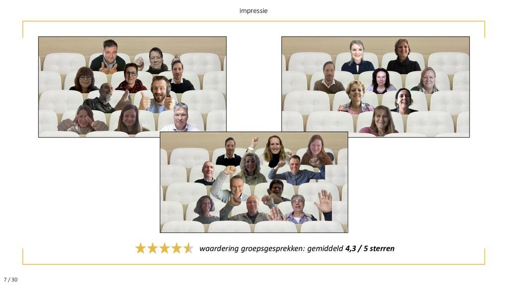 7 / 30 impressie waardering groepsgesprekken: g...