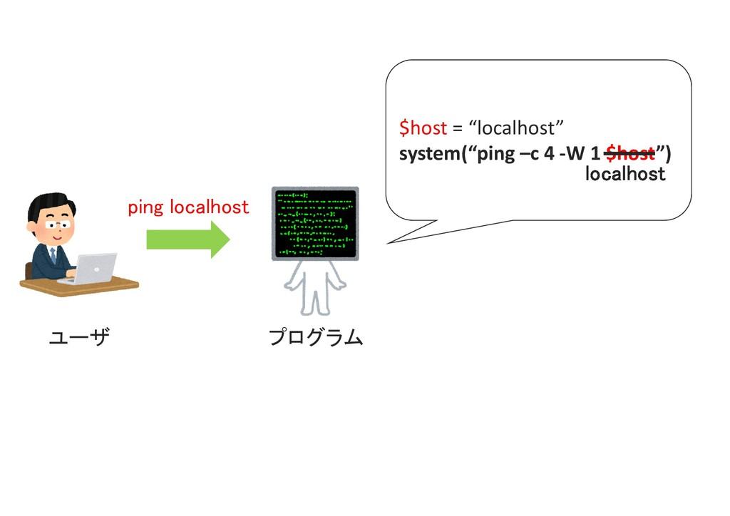 "ping localhost プログラム $host = ""localhost"" system..."