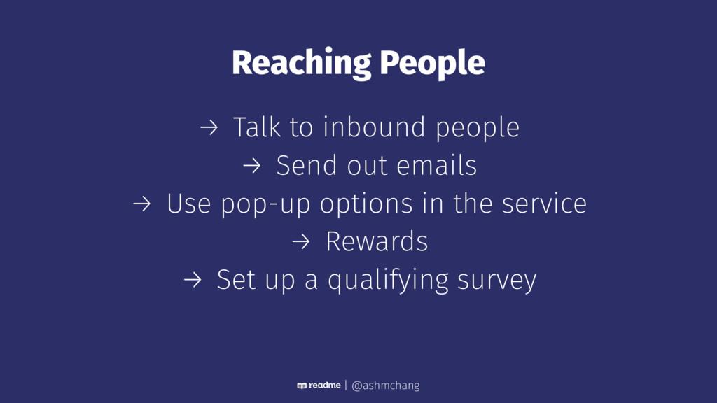 Reaching People → Talk to inbound people → Send...