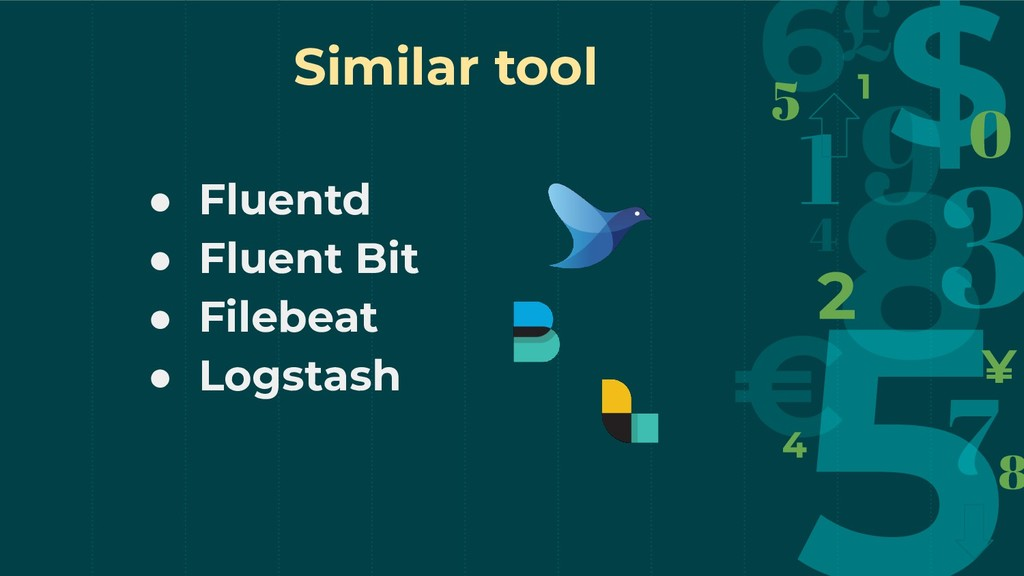 ● Fluentd ● Fluent Bit ● Filebeat ● Logstash Si...