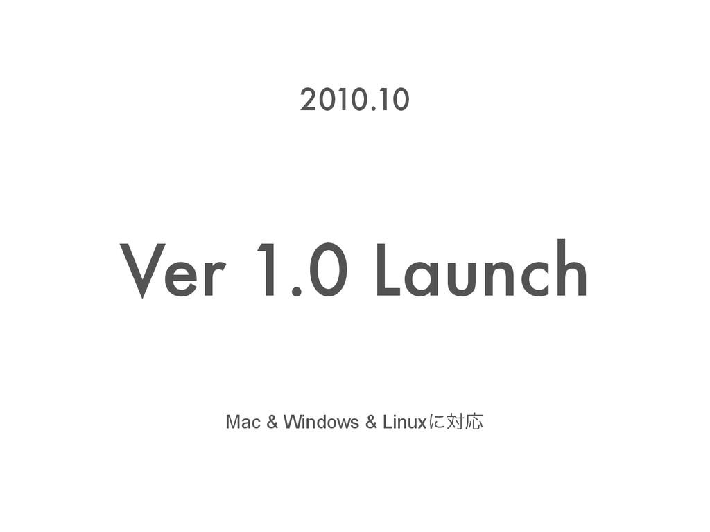 Ver 1.0 Launch 2010.10 Mac & Windows & LinuxʹରԠ
