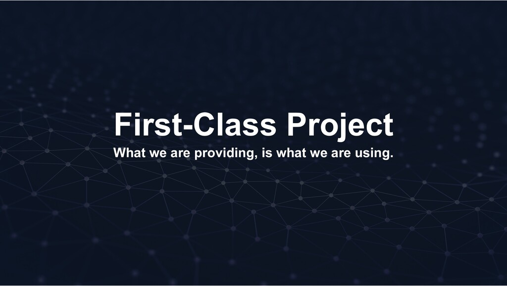 First-Class Project What we are providing, is w...