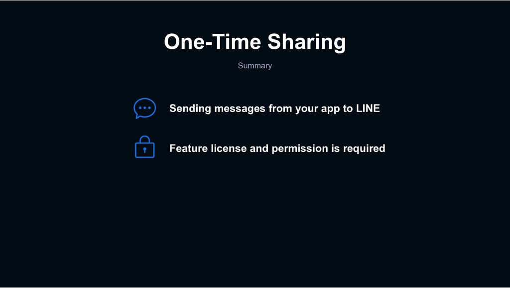 One-Time Sharing Summary Sending messages from ...