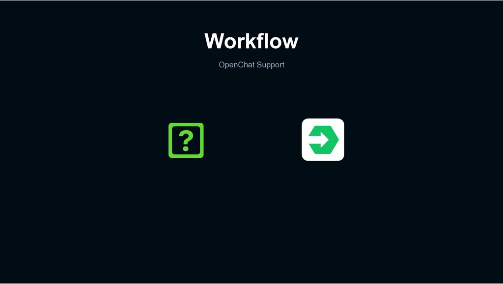 Workflow OpenChat Support