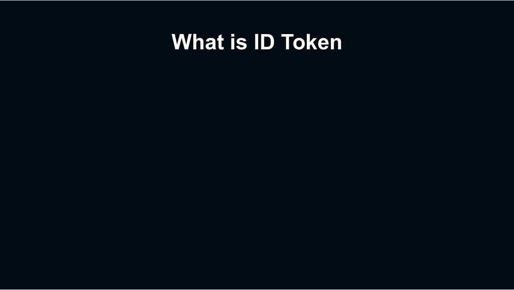 What is ID Token