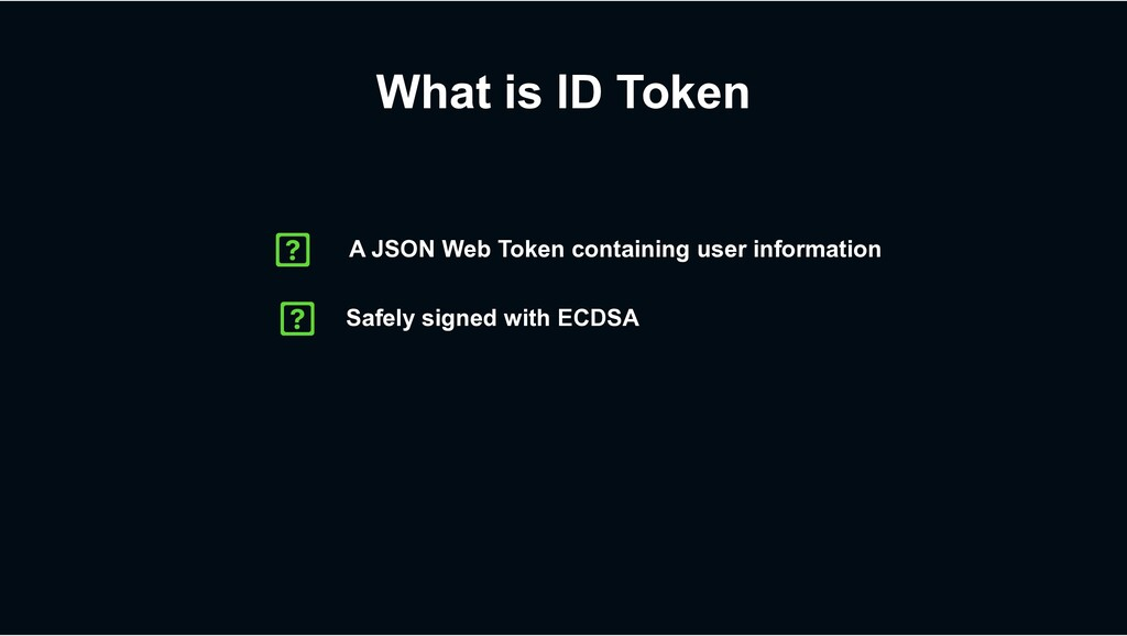 What is ID Token Safely signed with ECDSA A JSO...