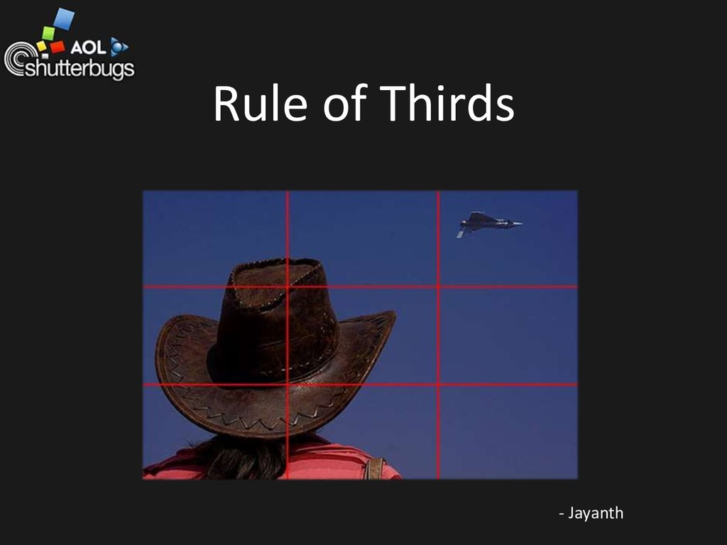 Rule of Thirds - Jayanth