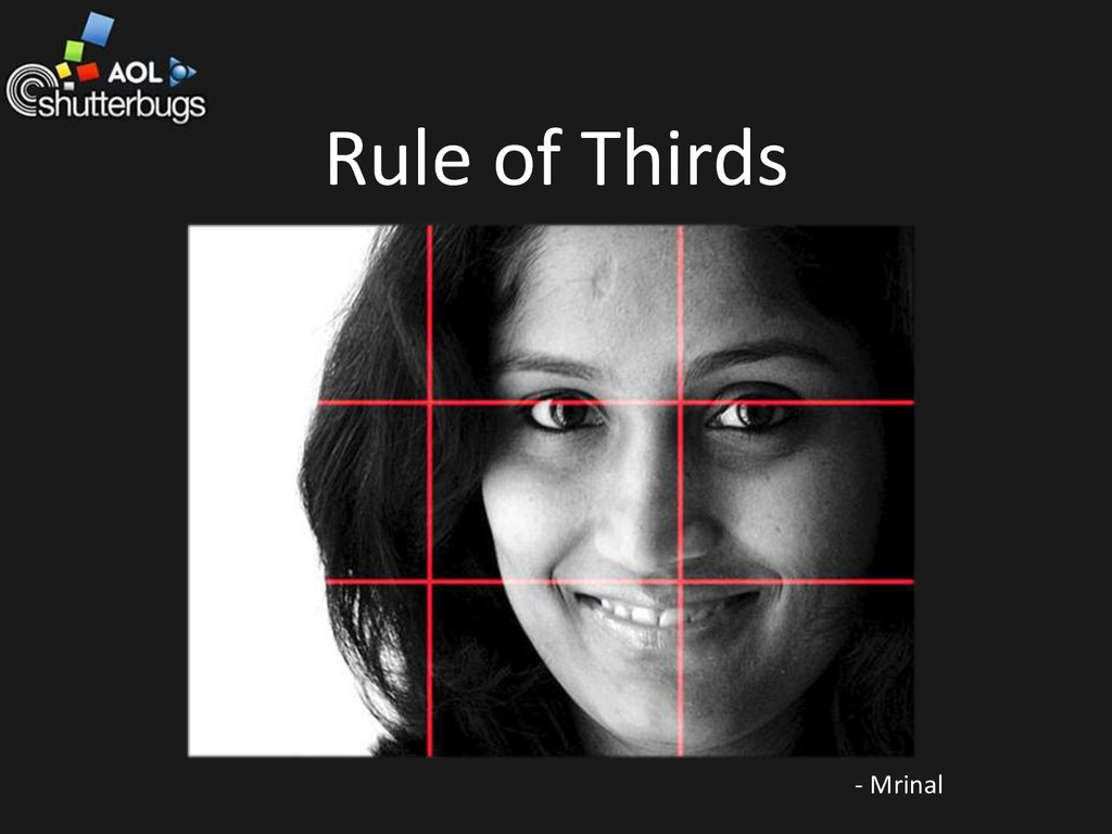 Rule of Thirds - Mrinal