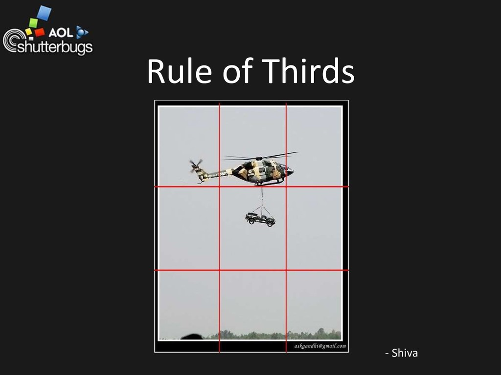 Rule of Thirds - Shiva