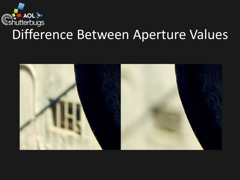 Difference Between Aperture Values