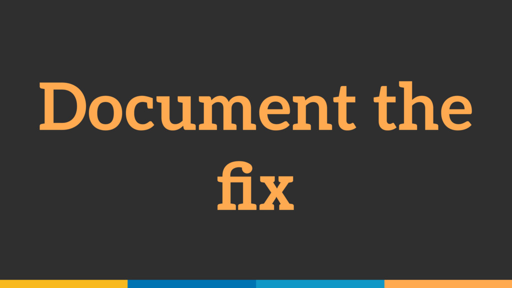 Document the fix