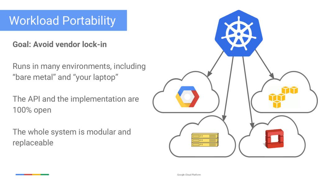 Google Cloud Platform Goal: Avoid vendor lock-i...