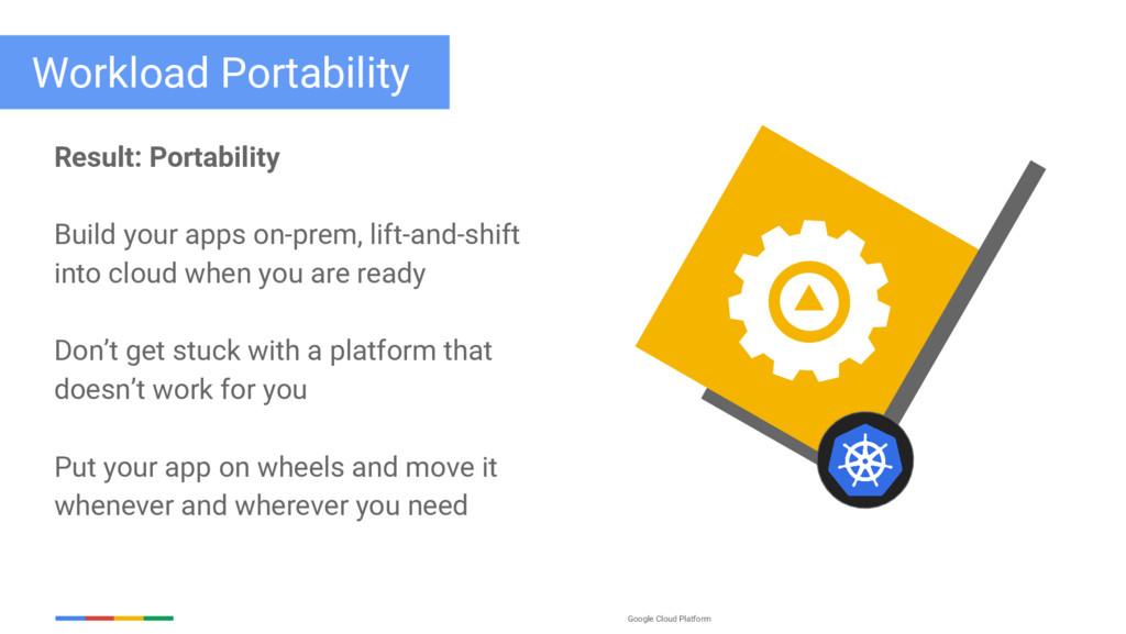 Google Cloud Platform Result: Portability Build...
