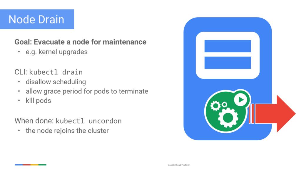 Google Cloud Platform Node Drain Goal: Evacuate...