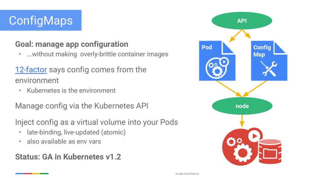 Google Cloud Platform ConfigMaps Goal: manage a...
