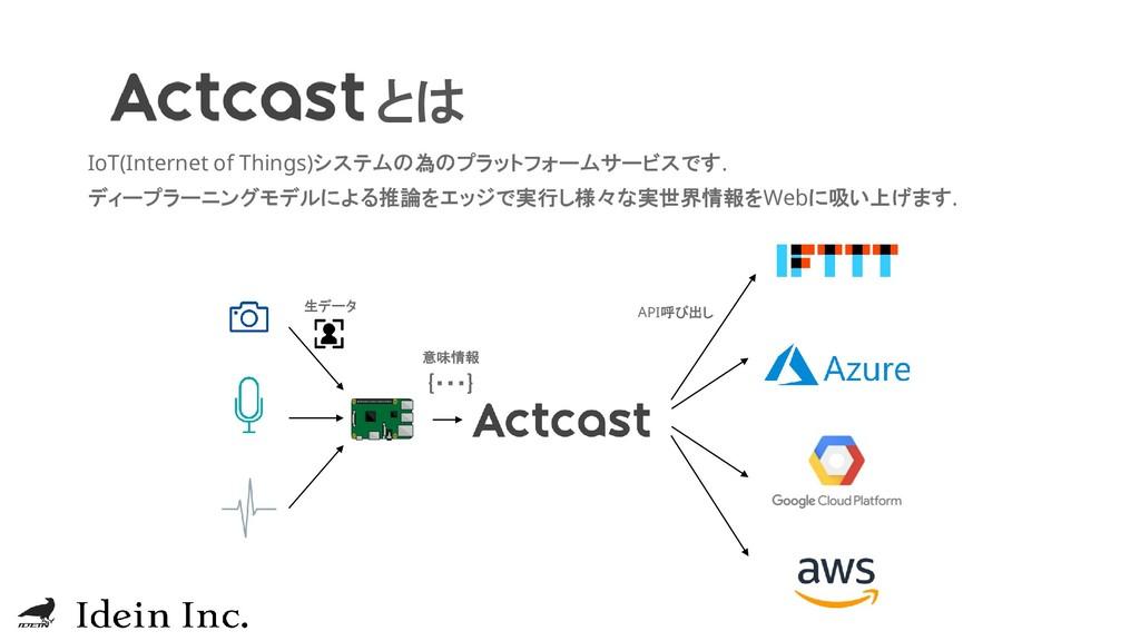 とは IoT(Internet of Things)システムの為のプラットフォームサービスです...