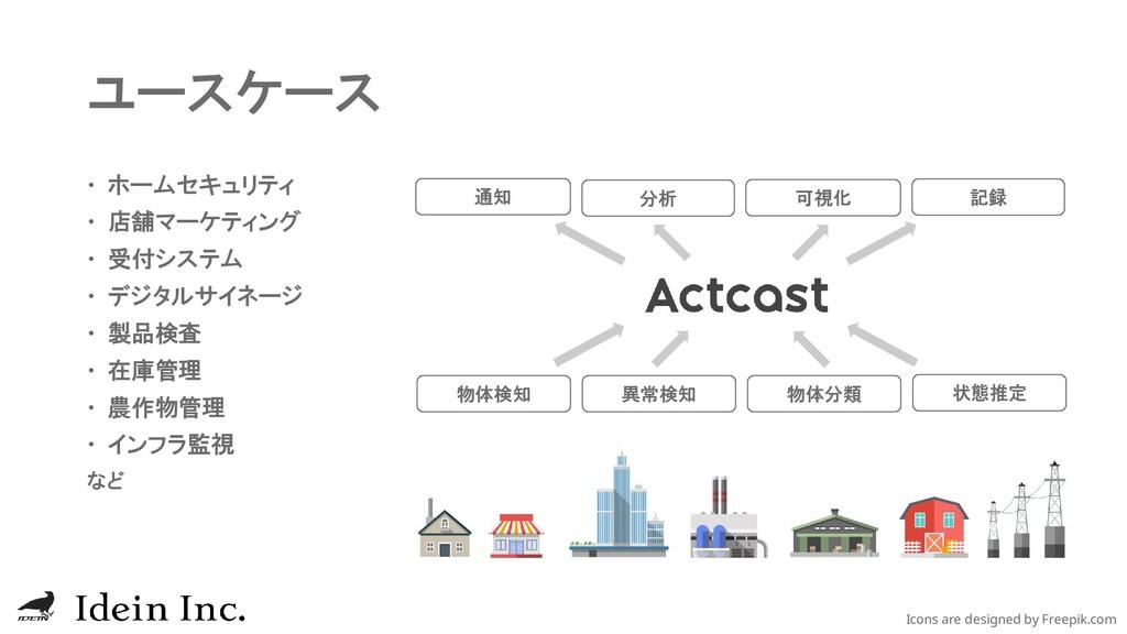 ユースケース  ホームセキュリティ  店舗マーケティング  受付システム  デジタルサ...