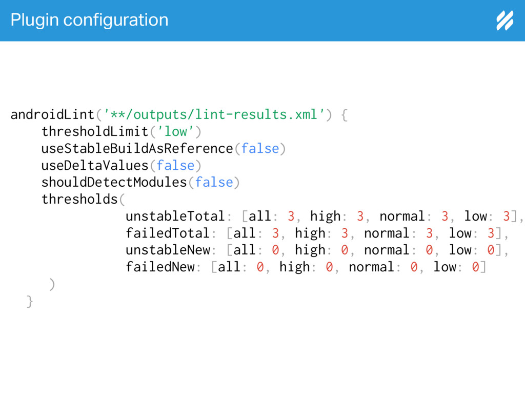 Plugin con!guration androidLint('**/outputs/lin...