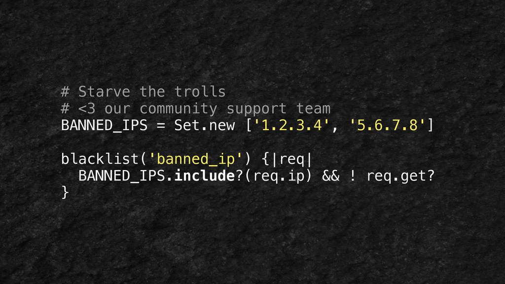 # Starve the trolls # <3 our community support ...