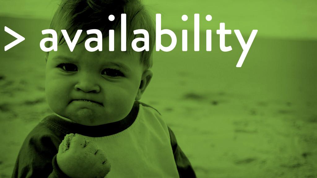> availability