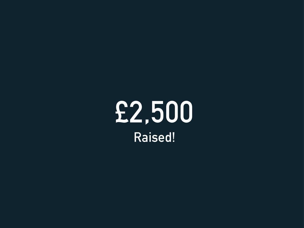 £2,500 Raised!