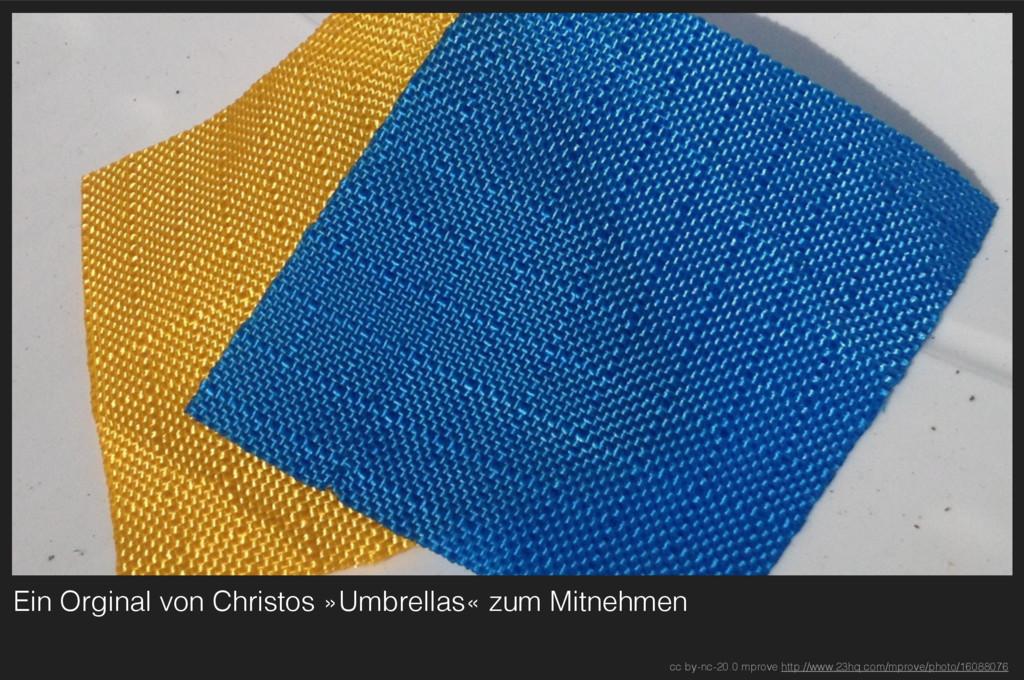 Ein Orginal von Christos »Umbrellas« zum Mitneh...